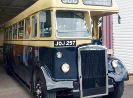 1950 vintage bus for weddings in Yeovil